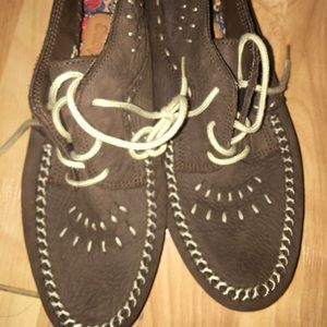 New Hush puppies moccasins Boots 7.5 Leather